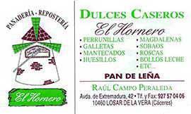 Dulces Caseros El Hornero